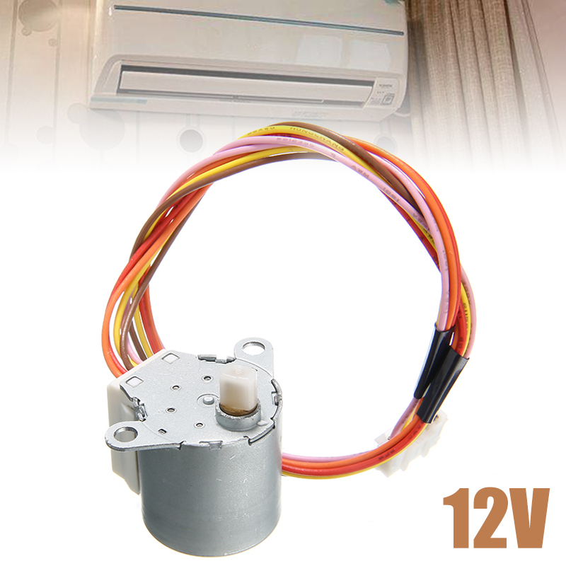 1Pcs Stepper Motor 20BYJ46 12V DC Synchronous Stepper Motor with 260mm Cable Length For Airconditioner