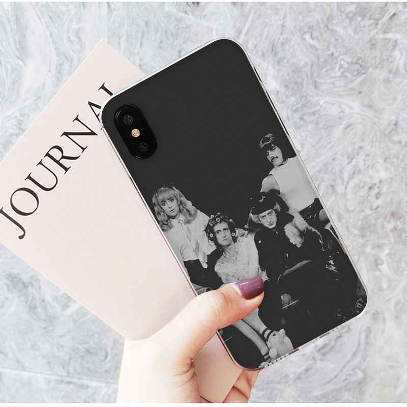 Queen Grup Rock Keras Silikon Lembut Tpu Ponsel Cover untuk Apple Iphone 8 7 6 6S Plus X XS MAX 5 5S SE XR Cover