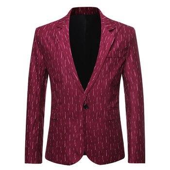2020 Business Leisure Suit Fashion Men Casual Blazer  Mens Suits Blazers Party Smart Large Size