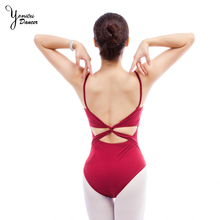 Ballet Exercise Suit Adult Women Ballet Dance Leotard Sling Tank Top Lycra Sexy Red Backless Dance Jumpsuit Black High Quality