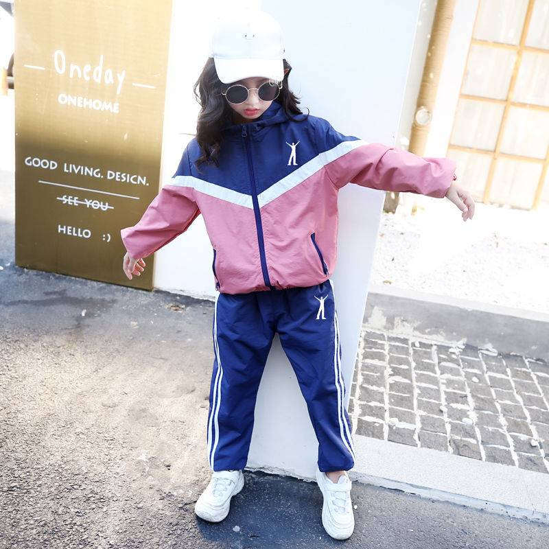 Baby Clothing Autumn Winter Long Sleeve Outfit Thin Stripe Two Piece Hoodie with Pocket