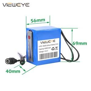 Image 4 - ViewEye pack de batterie Lithium 12V professionnel, avec indicateur 4500mAh/6400mAh pour détecteur de poisson, caméra vidéo de pêche sous marine