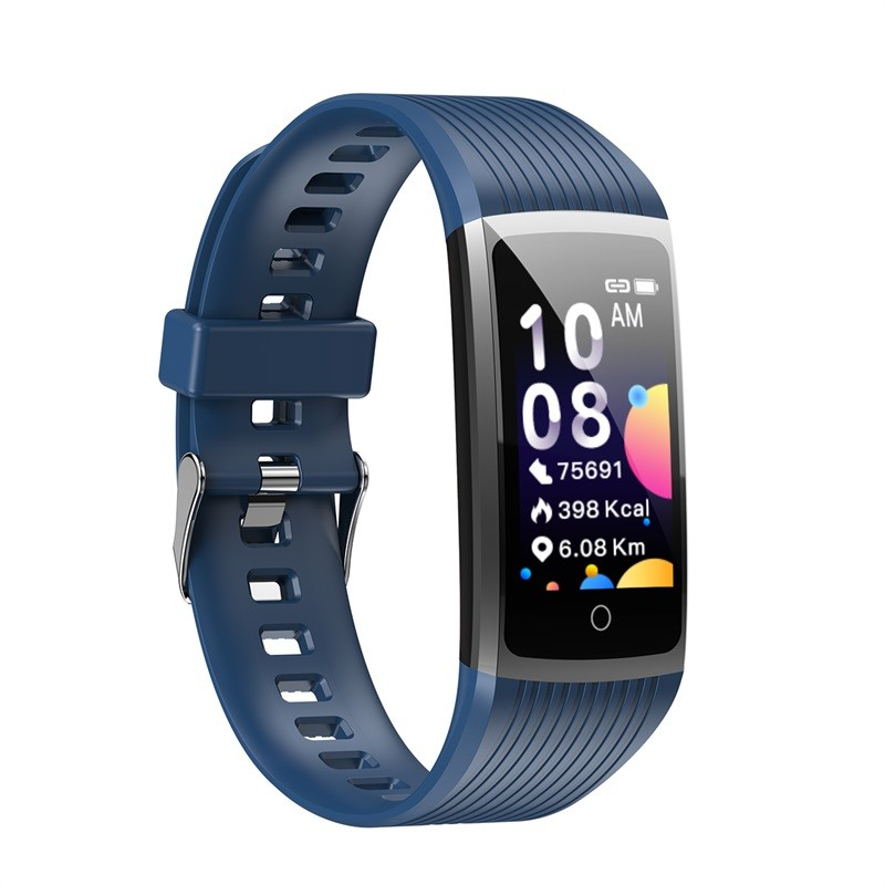Hae78cad746474ec9b39f4284c6b21d29v R12 Smart Band Bracelet Fitness Bracelet with Pressure Measurement Health Wristband Pedometer Heart Rate Monitor Cardio Bracelet
