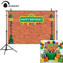 Allenjoy photography backdrop birthday Sesame Street light comic party prop fabric background photophone photocall photobooth