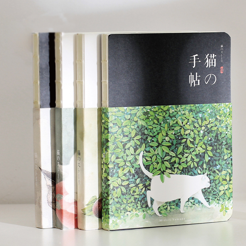 New Blank Vintage Sketchbook Diary Drawing Painting 80 Sheets Cute Cat Notebook Paper Sketch Book Office School Supplies Gift