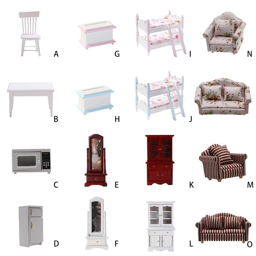 1 12 Dollhouse DIY Miniature Accessories Mini Simulation Dollhouse Furniture Kitchen Model Toys for Doll House