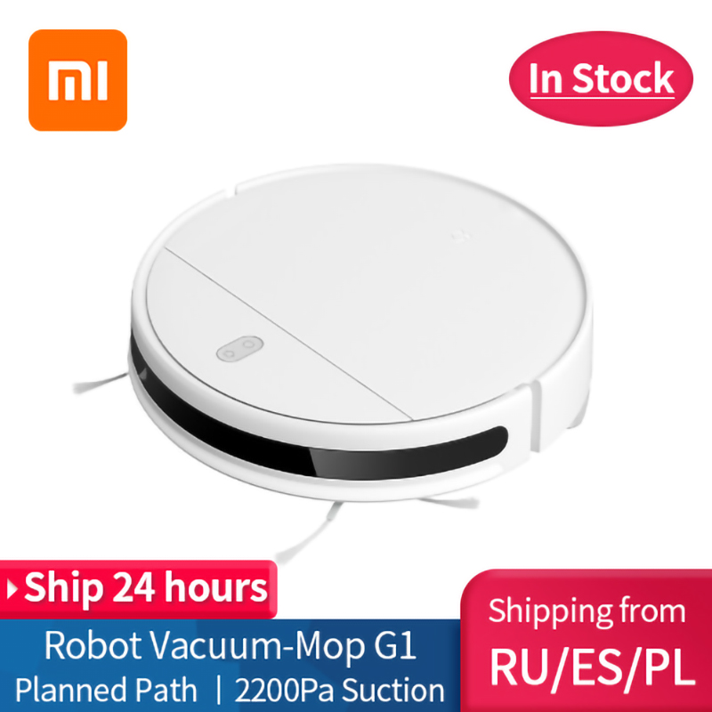 New XIAOMI MIJIA Mi Sweeping Mopping Robot Vacuum Cleaner G1 for home cordless Washing 2200PA cyclone Suction Smart Planned WIFI(China)