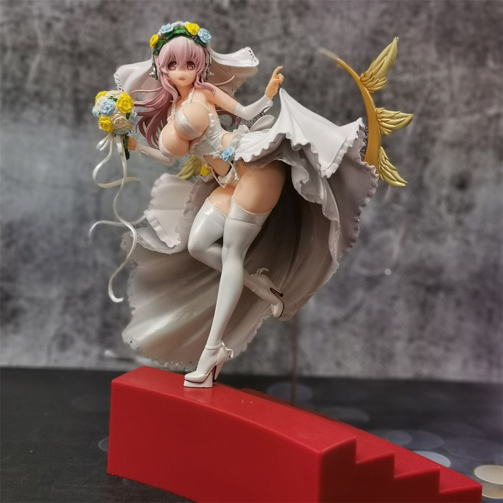 30cm NEW Super SONICO Luxury Wedding Dress Ver Sexy Girls Action Figure Japan Anime Adult Collectible Model Toy Doll Gift