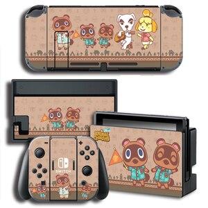 Image 4 - עור כיסוי מדבקה לעטוף עבור Animal Crossing מדבקות w/קונסולה + שמחה קון + טלוויזיה Dock עורות עבור nintendo מתג עור צרור