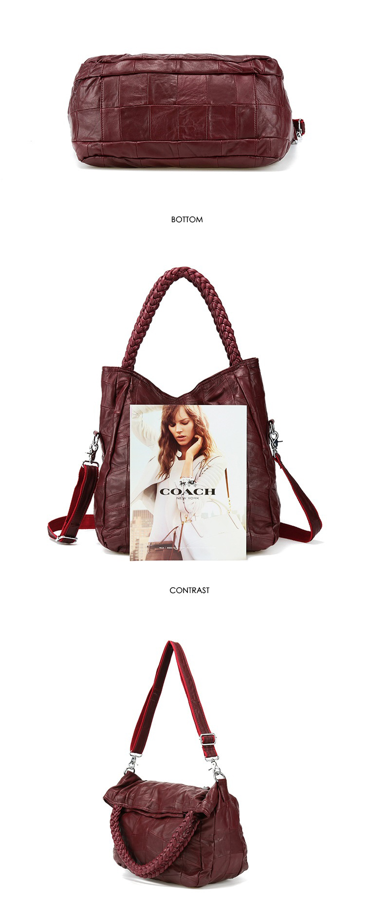 casual lady ombro crossbody sacola de compras