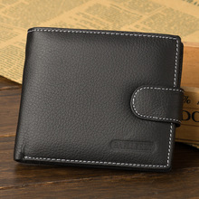 Brand Wallet Male Purse Multifunction Genuine-Leather Coin-Pocket Men with Top-Quality
