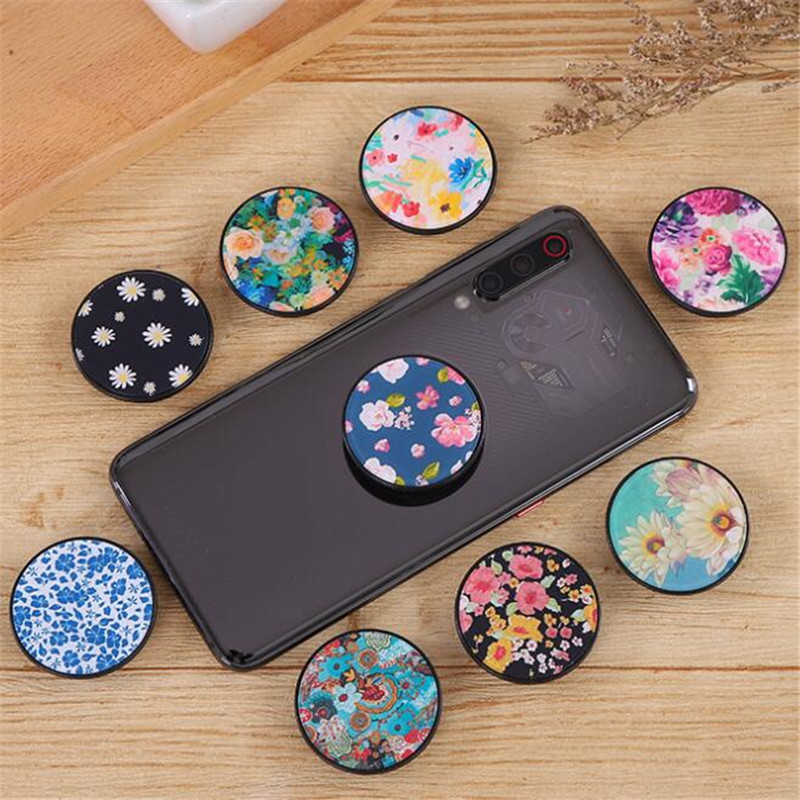 Flowers Daisy Rose Expanding Stand Grip Mount Phone Socket Fold Mobile Smartphones Pocket Desktop Stand Bracket Phone Holder