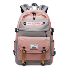 Casual Daypack for  Men Women Backpack Solid Canvas School Bag for Teenage Girls Boys 14