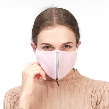 Pm2.5 dust mask with 2 replaceable filters anti pollution breathable respirator air mouth mask reusable washable comfortable