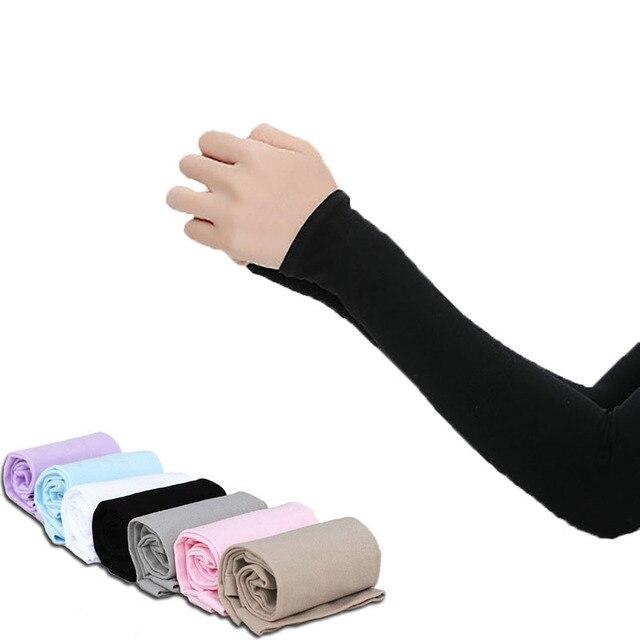 Mangas de braço unissex braço sem dedos manga protetor solar proteção uv gelo legal ciclismo correndo pesca escalada condução braço capa 1
