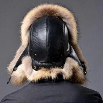 Cazadora cálido de invierno para hombre, gorros de piel sintética de cordero, sombreros de rapero ruso para invierno y actividades al aire libre