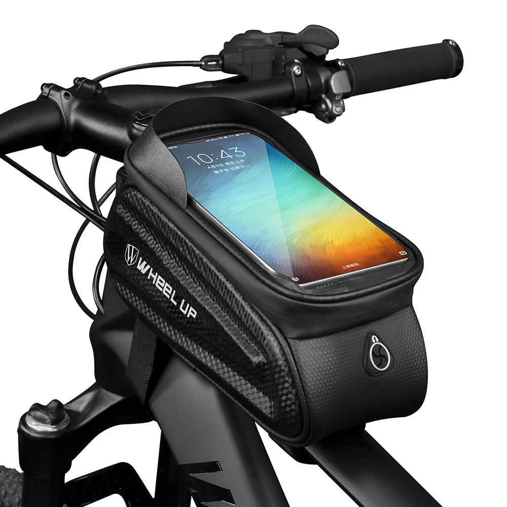Regendicht Fiets Bag Frame Top Tube Fietsen Tas Reflecterende 6.5in Telefoon Case Touchscreen Bag Mtb Fiets Accessoires