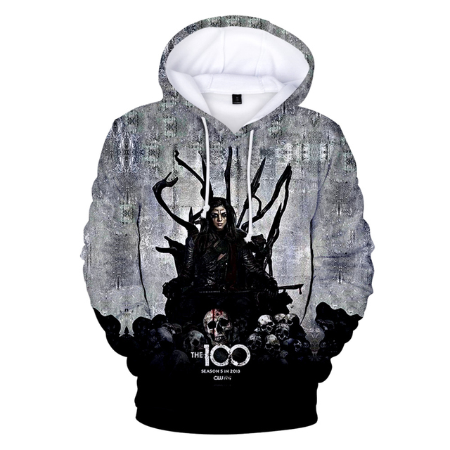 THE 100 THEMED 3D HOODIE (8 VARIAN)