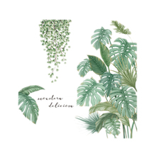 Green Plant Wall Sticker DIY Tropical Palm Leaves Modern Art Decal Mural Stickers for Kids Rooms Home Decor