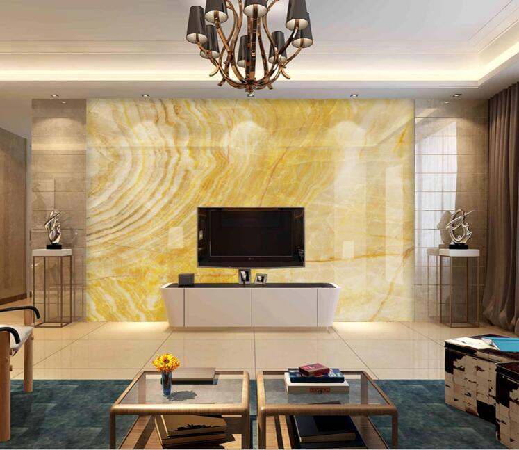 Yellow Marble Wallpapers For Living Room Cloth Paper Photo Murals Wall Decor Paper 3d Wall Coverings Proof Wall Paper
