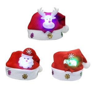 Adult LED Christmas Hat Santa Claus ELK Snowman Xmas Gifts Cap Decorations Cosplay Costume Christmas Party Decorations Hats