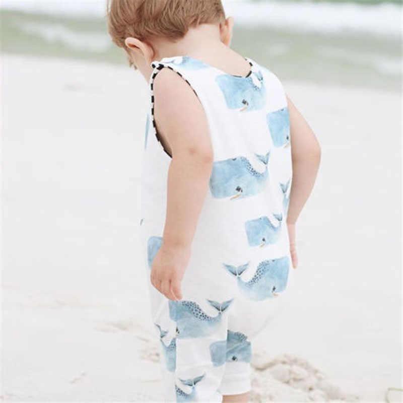 Casual Pasgeboren Baby Jongens Meisjes Kleding Romoers Zomer Cartton Print Mouwloze Peuter Jumpsuit Speelpakje Outfits Kleding