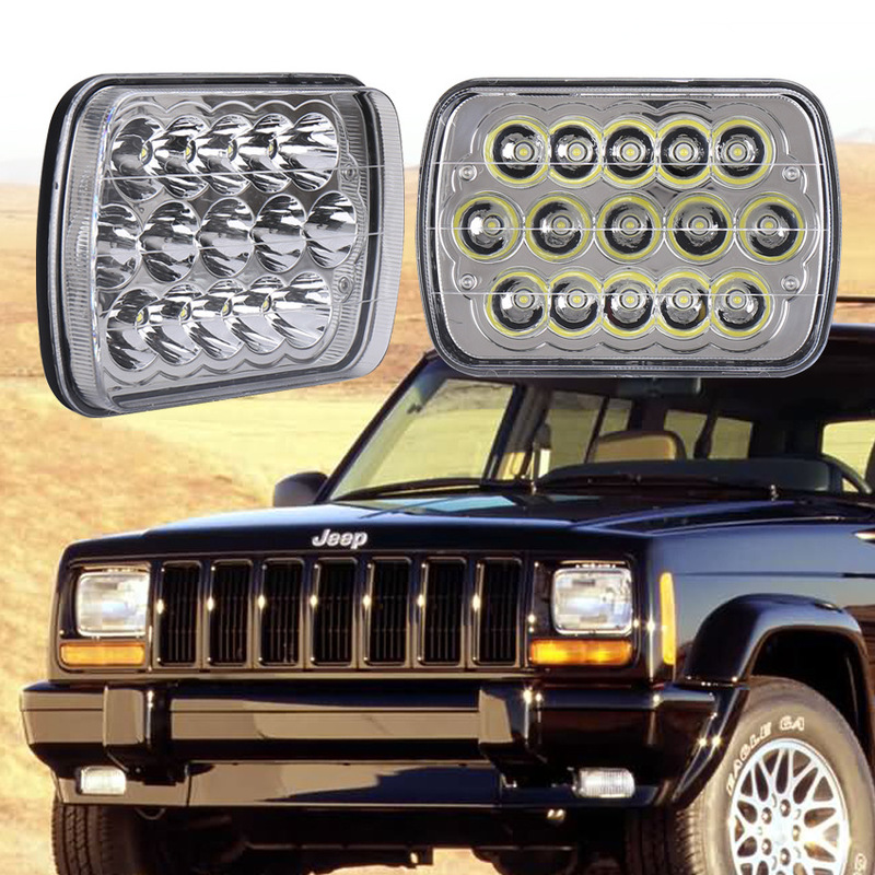 The Vectra 45 W Working Lamp 5 X7 Led Auto Repair Work Light 7 Inches Jeep Wrangler Headlight