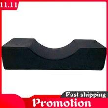 Qualidade espuma de memória travesseiro profissional extensão de cílios travesseiro especial flanela salão de beleza travesseiro suporte enxertado para cílios-armazenamento