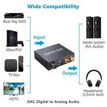 Volumen Einstellung Digital-Analog-Konverter Digital Optical Coax Toslink zu Analog Stereo Audio Adapter für TV box HDTV Hause C