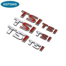 AQTQAQ 1 pièces 3D métal TSI côté voiture garde-boue arrière coffre emblème Badge autocollant autocollants, universel voiture accessoires décorations autocollants