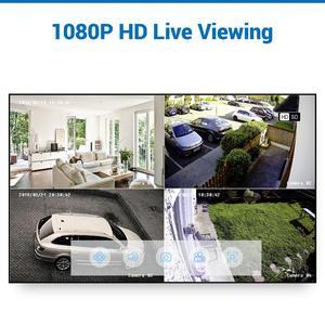 Image 4 - SANNCE 4CH 1080P HD ระบบกล้องวงจรปิด 1080N HDMI Video Recorder DVR ชุด 2MP กล้องวงจรปิดความปลอดภัยกล้อง IR การเฝ้าระวังกลางแจ้งชุดสีขาว
