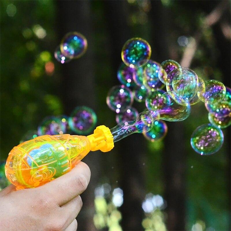 Bubble Blower Machine Toy Kids Funny Soap Water Bubble Gun Cartoon Water Gun Gift For Kids Children Manual Gun Blower Randoms