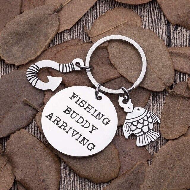 Cadeaux fête des pères porte-clés pour nouveau papa père grand-père annonce cadeaux pêche copain arrivée porte-clés pour lui hommes mari