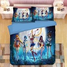 Sailor Moon Anime bedding set Duvet Covers Pillowcases Cartoon comforter sets bedclothes bed linen