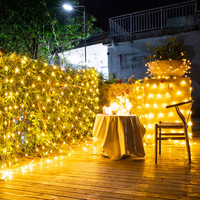 Thrisdar 6X4M 864 LED Net Mesh Fairy String Light Christmas Net Garland 8 Modes Xmas Tree Wedding Party Holiday Background Light