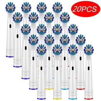 20 szt Wymienne końcówki do szczoteczki do zębów Oral B 3D Whiting szczoteczki do zębów Braun elektryczne głowice do szczoteczek do zębów do szczoteczki do zębów Oral B tanie i dobre opinie CN (pochodzenie) EB18-P EB20-P EB28-P EB17-P SB17A SB-417A POM + DuPont bristles + 304 stainless steel Główka szczoteczki do zębów