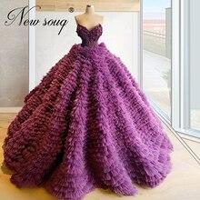 サウジアラビア 2020 フォーマルイブニングドレスふくらんノースリーブパーティードレスカフタンカスタマイズ 2020 赤フラワーウエディングドレスローブ · ド · 夜会