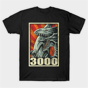 Yu-Gi-Oh Kaiba Ace Monster Blue Eyes White Dragon 3000 Hope Poster Black T-Shirt Teenage Pop Top Tee Shirt