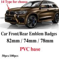 Auto Front Bonnet Logo Boot Trunk Badge 82mm 74mm 78mm Car emblem Caps With epoxy label Covers for E60 E90 F10 F30 F15 E91 E92