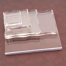 Акриловый блок для прозрачного штампа незаменимые инструменты