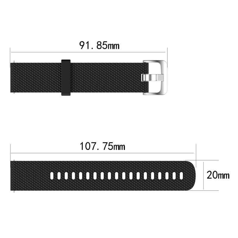 Tpu 부드러운 고무 스트랩 적용 garmin venu 질감 스포츠 시계 밴드 솔리드 컬러 스트랩 남여 20mm 시계 액세서리