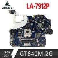 Para For Acer aspire V3-571 V3-571G E1-571G Laptop Motherboard HM77 DDR3 NBRZP11001 Q5WVH LA-7912P GT640M 2GB