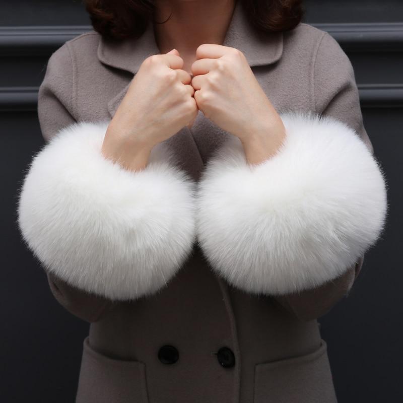 Elegant Fake Fur Cuff Decorative Warm Wrist Cuffs Arm Warmers