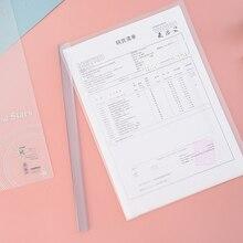 Folder Document-Organizer Stationery Paper-Clips Report Office School Translucent PP