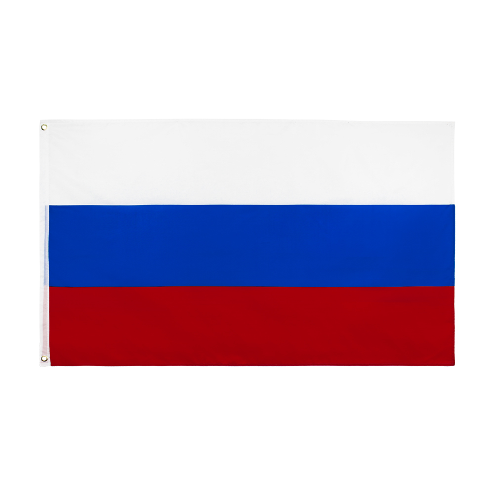 Johnin bandeira russa, bandeira branca azul vermelha 90x150cm