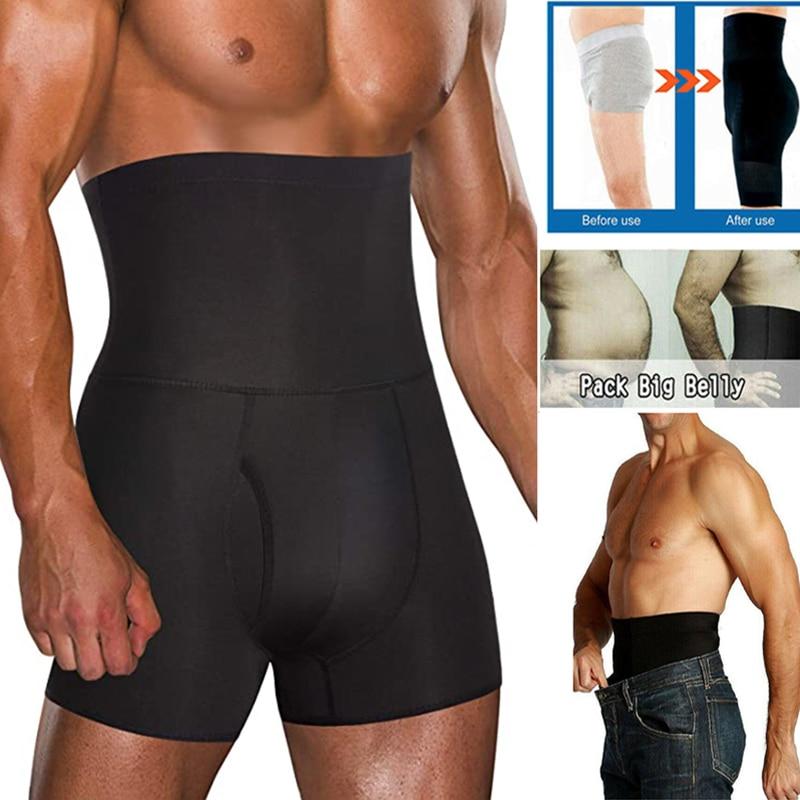 Men Tummy Control Shorts High Waist Slimming Underwear Body Shaper Seamless Belly Girdle Boxer Briefs Abdomen Control Pants US