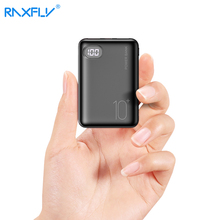 RAXFLY Mini mi Power Bank 10000mAh Dual USB Portable Charger Powerbank For Xiaomi Power Bank External Battery Poverbank 3 Inputs цена 2017
