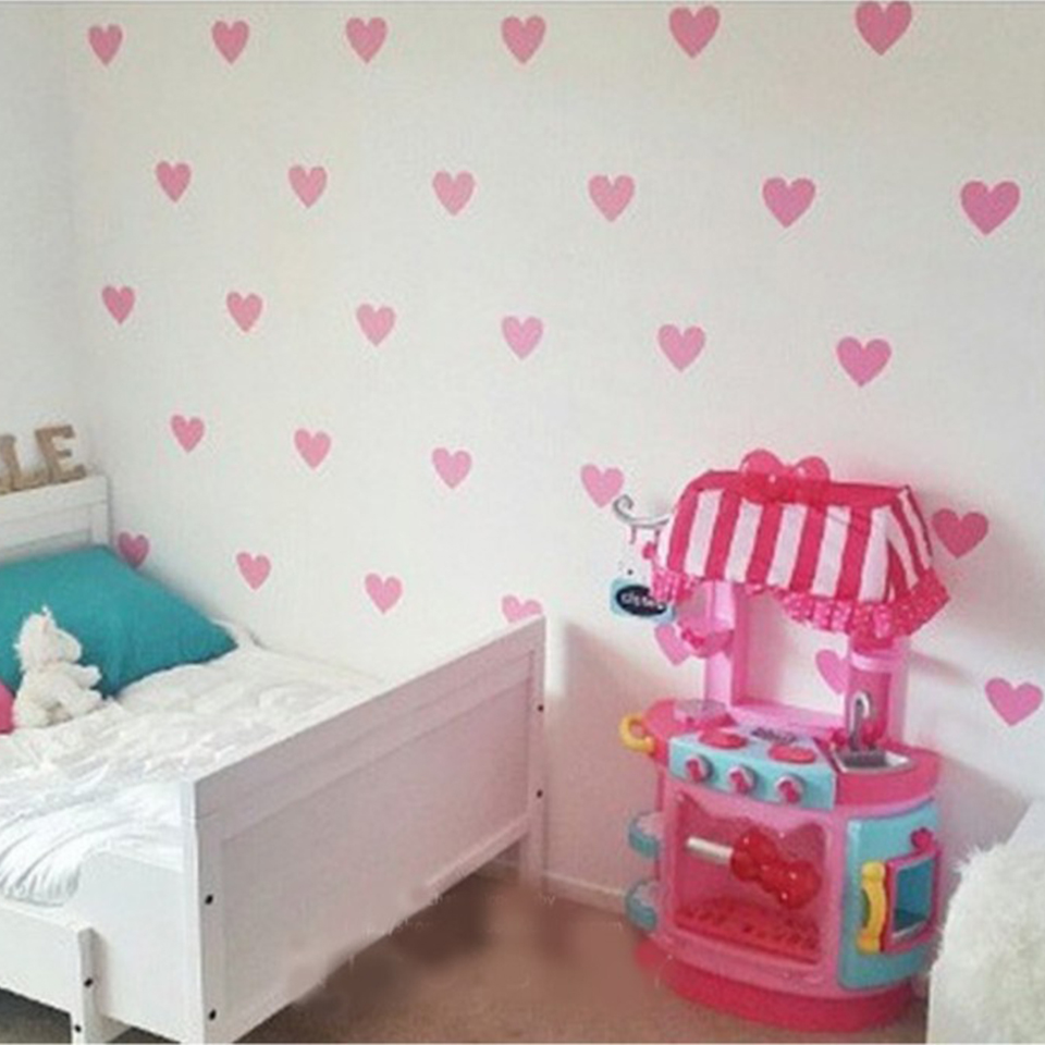 US $0.69 |Love Heart Baby Room Decorative Stickers Girl Bedroom Wall Decal  Children Wall Stickers Room Decoration Nursery Home Decor on AliExpress