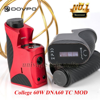 Original DOVPO College DNA60 Mod Electronic Cigarette 60W TC Box Fit 24mm Tanks Topside Dual