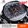 Forsining Three Dial Calendar Stainless Steel Men Mechanical Automatic Wrist Watches Top Brand Luxury Military Sport Male Clock 1